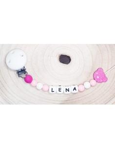 Attache tétine Lena ourson
